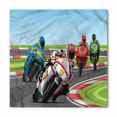 Motor Yarışı Desenli Bandana Fular