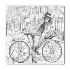 Bisikletli Kız Bandana Fular