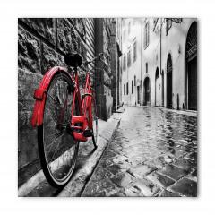 Kırmızı Bisiklet Desenli Bandana Fular