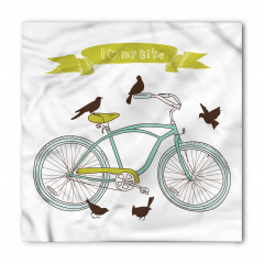 Bisiklet ve Kuşlar Bandana Fular