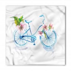 Mavi Bisiklet Desenli Bandana Fular