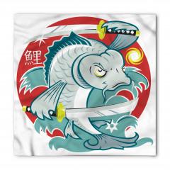 Samuray Balık Desenli Bandana Fular