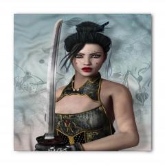 Kadın Samuray Desenli Bandana Fular