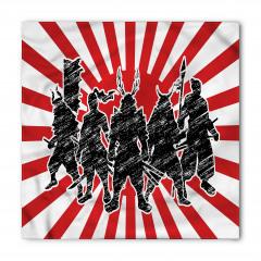 Samuray Desenli Bandana Fular