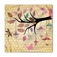 Çiçeklenmiş Dal Desenli Bandana Fular