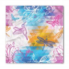 Renkli Kuşlar Çiçekler Bandana Fular