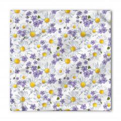 Bahar Çiçekleri Desenli Bandana Fular