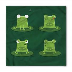 Sevimli Yeşil Kurbağa Bandana Fular