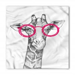 Pembe Gözlüklü Zürafa Bandana Fular