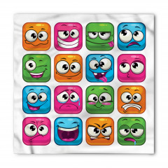 Rengarenk Emojiler Bandana Fular