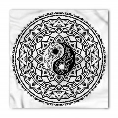 Yin Yang ve Daire Şal Bandana Fular