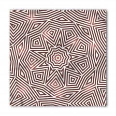 Kahverengi Geometrik Bandana Fular