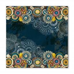 Renkli Şal Tarzı Çiçek Bandana Fular