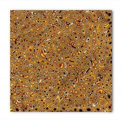 Sarı Kahverengi Şal Bandana Fular