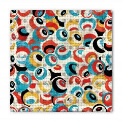 Modern Rengarenk Göz Bandana Fular
