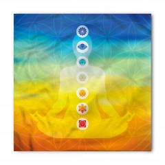 Sarı Mavi Meditasyon Bandana Fular