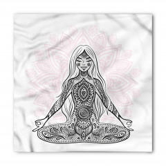 Meditasyon Pembe Lotus Bandana Fular