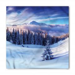 Karlı Dağlar ve Ağaçlar Bandana Fular