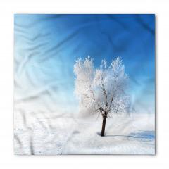 Karlı Yalnız Ağaç Bandana Fular