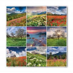 Doğa Manzarası Desenli Bandana Fular