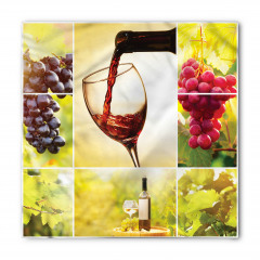 Üzüm ve Şarap Desenli Bandana Fular