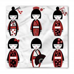 Japon Bebek Desenli Bandana Fular
