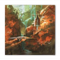 Kırmızı Kanyon Temalı Bandana Fular