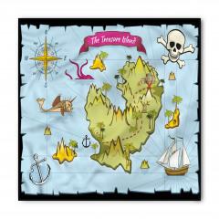 Hazine Haritası Temalı Bandana Fular