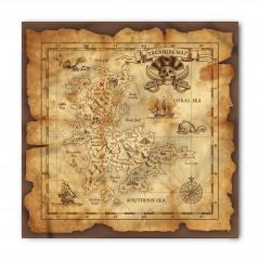 Korsan Haritası Temalı Bandana Fular
