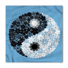 Şık Çiçekli Yin Yang Bandana Fular