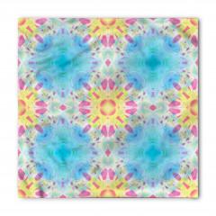 Mavi Mor Geometrik Bandana Fular