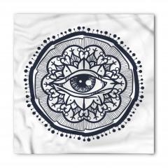Göz ve Çiçekli Güneş Bandana Fular