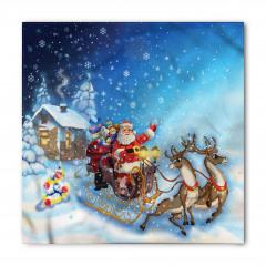 Noel Baba ve Geyik Bandana Fular