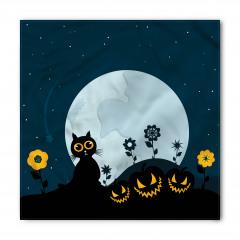 Kedi ve Ay Desenli Bandana Fular