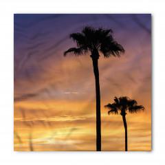 Ağaçlar ve Gün Batımı Bandana Fular