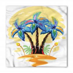 Palmiye Desenli Bandana Fular