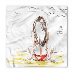 Güneşlenen Kız Bandana Fular