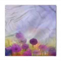 Mor Çiçekli Bandana Fular