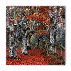 Turuncu Yapraklı Ağaç Bandana Fular