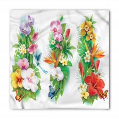 Tropikal Renkli Çiçek Bandana Fular