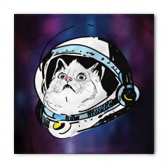 Astronot Kedi Temalı Bandana Fular