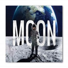 Ay'da Yürüyüş Temalı Bandana Fular