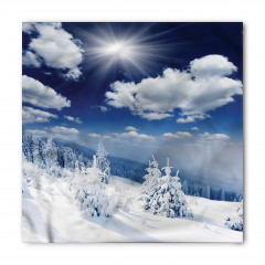 Bulutlar ve Karlı Ağaç Bandana Fular