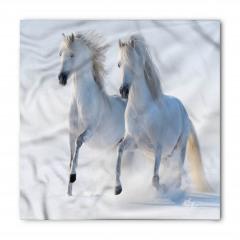 Karda Koşan Beyaz Atlar Bandana Fular