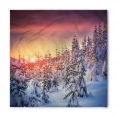 Karlı Ağaç ve Kış Bandana Fular