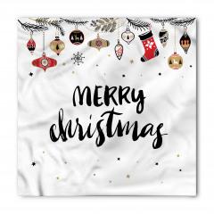 Noel Süsleri Desenli Bandana Fular