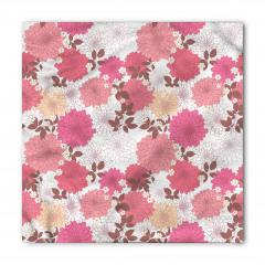 Pembe Çiçekli Desen Bandana Fular