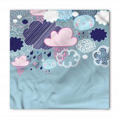 Renkli Yağmur Bulutları Bandana Fular