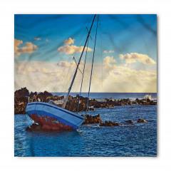 Deniz ve Yat Manzaralı Bandana Fular