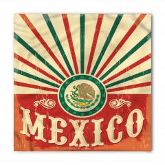 Meksika Bayrağı Desenli Bandana Fular